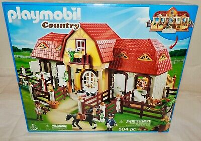£89.99 • Buy NEW Playmobil 5221 - LARGE HORSE FARM With PADDOCK - 504 PC, Deluxe Set