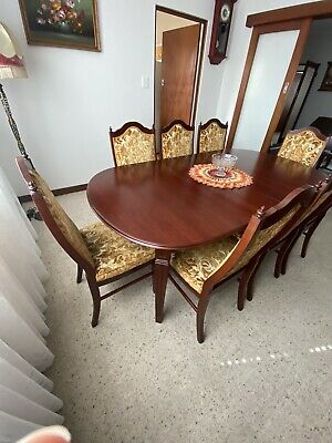 AU350 • Buy TH Brown Vintage 8-12 Seater Extendable Dining 8 Chairs