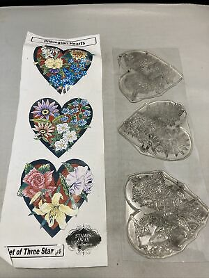 £3.50 • Buy Pilkington Hearts Stamp Away Slightly Used Clear Stamps