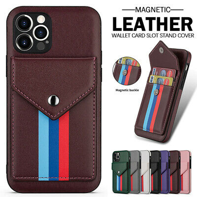 AU2.92 • Buy For IPhone 12 11 Pro/Max SE/8/7 Plus XR XS Case Leather Wallet Card Slot Cover