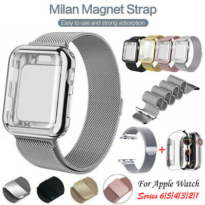 AU9.99 • Buy Band Strap + Cover Case For Apple Watch Strap Series SE 6 5 4 3 2 1 40 42 44 Mm