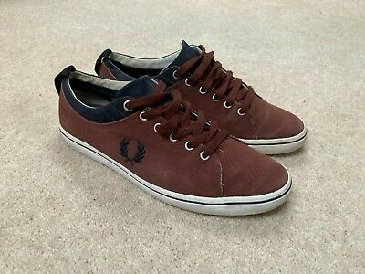 £15.99 • Buy Mens Fred Perry Brown Canvas Trainers Uk 7 Lace Up Shoes Plimsolls Casual