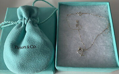 £45 • Buy Authentic Tiffany & Co. Paloma Picasso Loving Heart 925 Silver Pendant Necklace