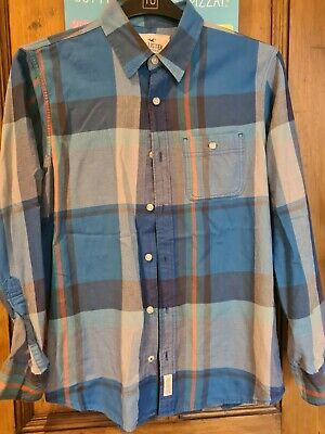 £2.50 • Buy Hollister Distressed Blue Checked Shirt