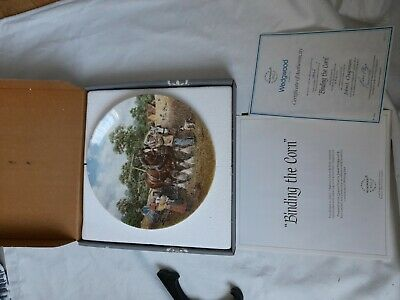£7.50 • Buy Wedgewood Life On The Farm Collection. Binding The Corn Collectors Plate