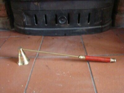 £12 • Buy Brass And Wood Candle Snuffer