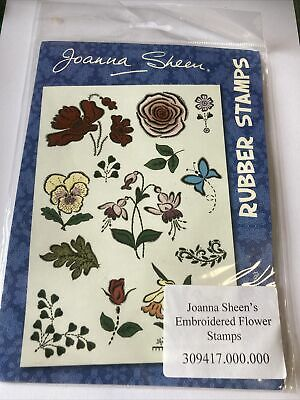 £4 • Buy Joanna Sheen  EMBROIDERED FLOWERS. Stamp Set- New