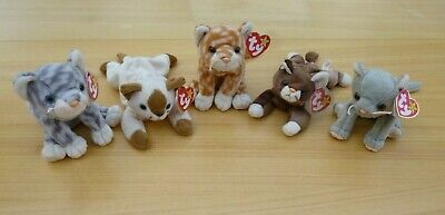 £4.99 • Buy Ty Beanie Babies Cats Bundle Of 5 With Tags