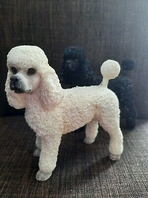 £7.99 • Buy 2 X Poodle Dog Figurines Collectable Ornaments White And Black