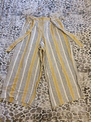 £5 • Buy Dorothy Perkins Cropped Linen Trousers Size 8
