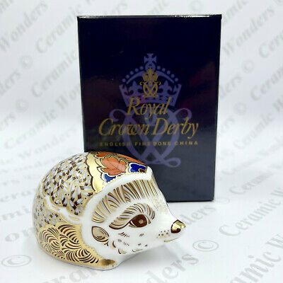 £65 • Buy Royal Crown Derby 'Hawthorn' Hedgehog Paperweight (Boxed) Gold Stopper
