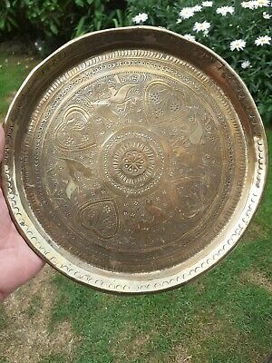 £24.99 • Buy Antique Asian Islamic Brass Tray/Plate
