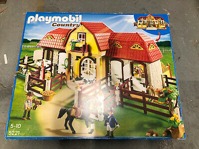 £55 • Buy PLAYMOBIL 5221 - Large Horse Farm With Paddock With Box