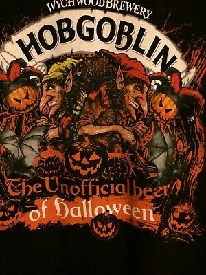 £14.99 • Buy Wychwood Brewery Hobgoblin The Unofficial Beer Of Halloween T-shirt. Size Large.