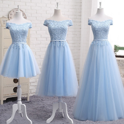 £72.62 • Buy Women Dress Formal Evening Party Prom Ball Gowns Lace Wedding Bridesmaid Dresses