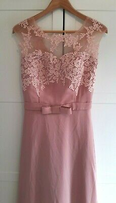 £18 • Buy Size 10 Dusky Pink Floor Length Bridesmaid / Occasion / Prom Dress
