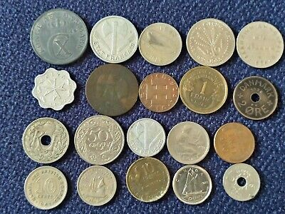 £4.21 • Buy 1923-1988Job Lot Of Old Foreign  20 X Coins, MIXED.