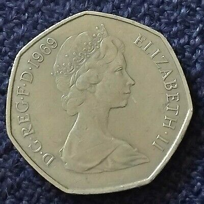 £1 • Buy 1969 50p Coin Old Large Style New Fifty Pence Britannia Coin