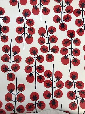 AU7.36 • Buy John Lewis New PVC Oilcloth Tablecloth Fabric Remnant Tomatoes 1.70 Metres Long