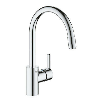 £129.67 • Buy Grohe 32671002 Feel Single-lever Sink Mixer Pull-Out Tap, Chrome - New