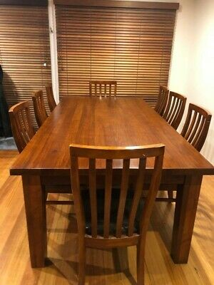 AU700 • Buy Australian Hardwood Dining Table And 8 Chairs Used