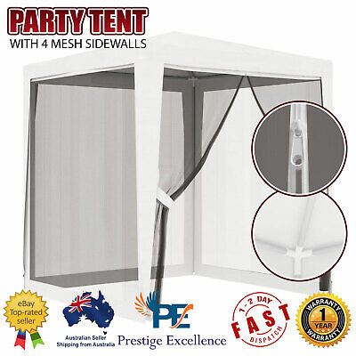 AU95.90 • Buy Gazebo With Insect Mesh Screen Net 2x2m Stylish Wedding Event Party Tent Shelter