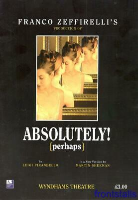 £4.99 • Buy Absolutely (perhaps) - 2003 - Wyndham's Theatre - Oliver Ford-davies