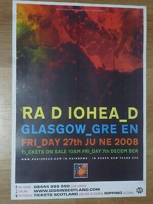 $11 • Buy Radiohead - Glasgow Green June 2008 Live Music Show Tour Concert Gig Poster