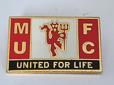 £5.40 • Buy Manchester United For Life Pin Badge MUFC Man Utd Memorabilia Busby Crested 58