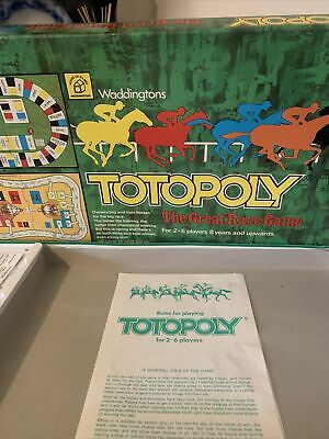 £14.95 • Buy Waddingtons TOTOPOLY 1972 Vintage Horse Racing Board Game - FREE POST