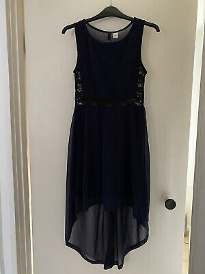 £10 • Buy H&M Dark Purple High Low Dress With Lace. Size Small