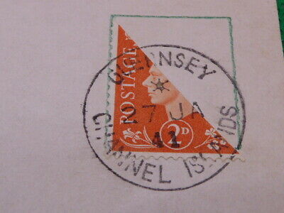£4.99 • Buy Guernsey Bisect Stamp On Postcard , 27-1-1941 , Channel Islands   ,(s2419)