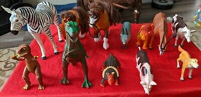 £5.06 • Buy Twelve (12) 1983-1993 Imperial Just Toys Animals And Dinosaurs Toy Figures