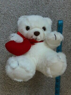 £3.99 • Buy THE SUMMIT COLLECTION A BEAUTIFUL BEAR,White With A Beautiful RED Heart&bow