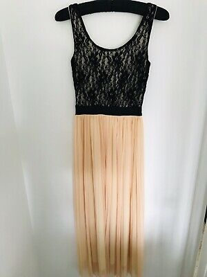£6.99 • Buy Love *Topshop ASOS Concession* Lace Pleated Maxi Smart Occasion Dress Size S/M