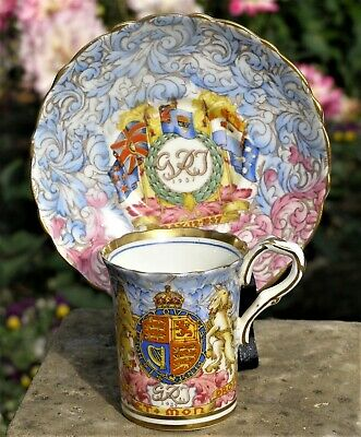 £60 • Buy Scarce George VI Paragon Royal Commemorative  China Coffee Can & Saucer