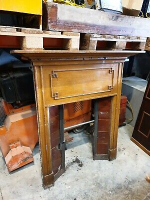 £40 • Buy Fireplace Surround Fire Old Tiled Insert Antique Victorian Style