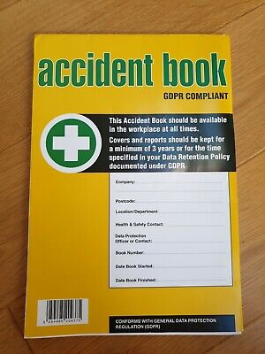 £0.99 • Buy GDPR Compliant Business/Workplace Accident Report Book - A4