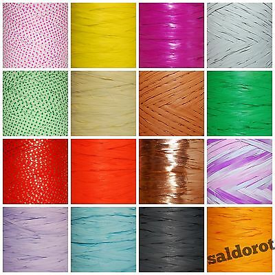 £2.39 • Buy Many Colours RAFFIA Ribbon Cut Length 1~5~10~20m  FLOWERS GIFT WRAPPING CRAFTS