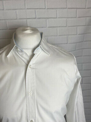 £9.99 • Buy T.M. Lewin Shirt White 16.5  - 34.5  Regular Fit Double Cuff