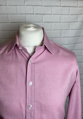 £13.99 • Buy Thomas Pink Shirt Pink 16.5  Slim Fit Double Cuff Luxury