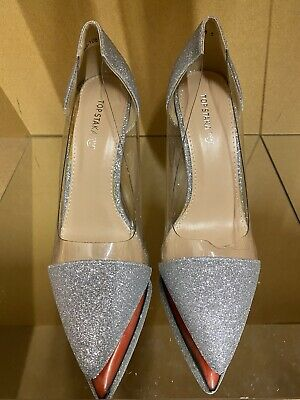 £9.99 • Buy Womens Ladies Glitter Heel Party Prom Court Shoes Bridal Sandals Size 6 Silver