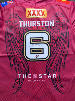 AU99.99 • Buy Jonathan Thurston Signed Queensland Maroons Tribute Jersey 2021