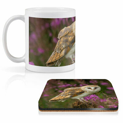 £13.99 • Buy Mug & Square Coaster Set - Pretty Barn Owl In The Forest   #15813