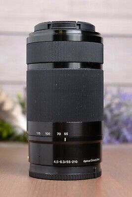 AU186.34 • Buy Sony E Mount 55-210mm F/4.5-6.3 OSS Lens SEL55210 With Caps