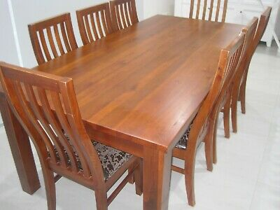 AU350 • Buy Solid 8 Seater Dining Table And Chairs
