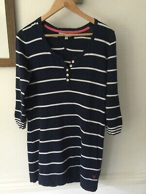 AU3.66 • Buy Crew Clothing Blue White Top / Tunic Dress In Size 14 In Good Condition.