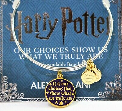 AU56.08 • Buy Alex And Ani Harry Potter Bracelet  It Is Our Choices  Double Sided Charm Bangle