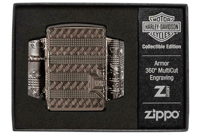 View Details Zippo Windproof Lighter Armor Harley Davidson 2021 Collectible COTY 2021 NEW • 120£