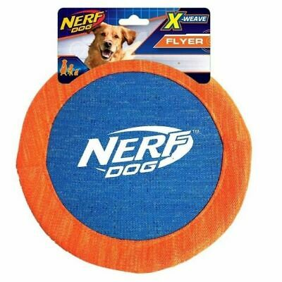 £10.79 • Buy Nerf Dog X Weave Flyer Puppy Frisbee Outdoor Throw Disc Toy Fetch Canvas 6073